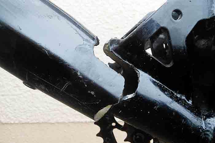 gebrochener Fahrradrahmen
