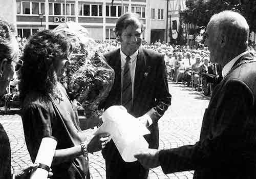 Verleihung Wissenschaftspreis Stadt Ulm 1989